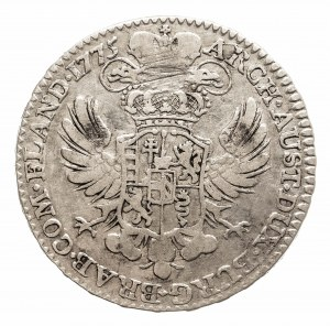 Austria, Niderlandy, Maria Teresa, 1/2 talara 1775, Bruksela (1)