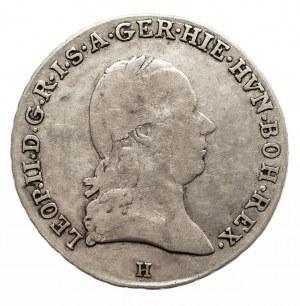 Austria, Niderlandy, Leopold II, 1/4 talara 1791 H, Gunzburg