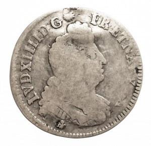 Francja, Ludwik XIV, 1/4 ecu 1704 K, Bordeaux