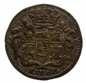 Polska, August III Sas 1733-1763, 1/48 talara (półgrosz) 1740 FWôF, Drezno