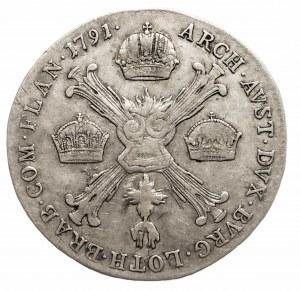 Austria, Niderlandy, Leopold II 1790 - 1792, 1/4 talara 1791 A, Wiedeń.