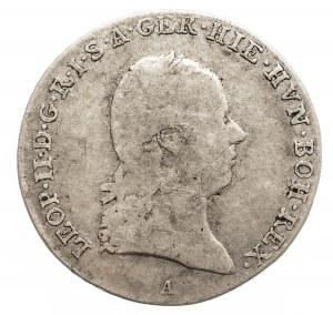 Austria, Niderlandy Leopold II 1790 - 1792, 1/4 talara 1792 A, Wiedeń.