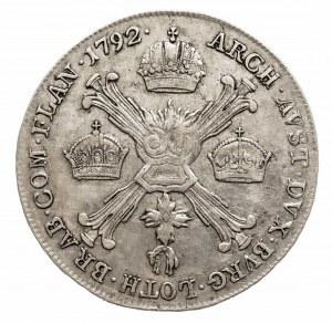 Austria, Niderlandy, Leopold II 1790 - 1792, 1/4 talara 1792 A, Wiedeń.