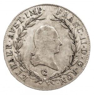Austria, Franciszek II 1792 - 1806, 20 krajcarów 1805 C, Praga.