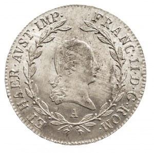 Austria, Franciszek II 1792 - 1806, 20 krajcarów 1806 A, Wiedeń.