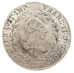 Austria, Franciszek II 1792 - 1806, 20 krajcarów 1805 A, Wiedeń.