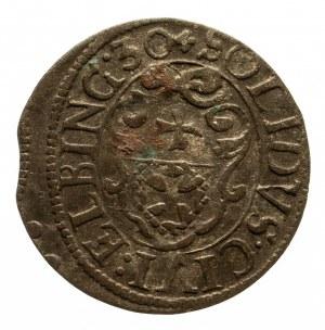 Polska, Gustaw II Adolf (1617–1632) - okupacja szwedzka - miasto Elbląg, szeląg 1630, Elbląg