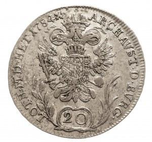 Austria, Józef II 1765 - 1790, 20 krajcarów 1784 B, Kremnica.