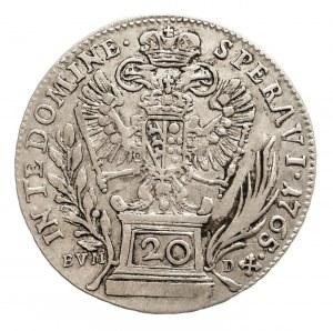 Austria, Franciszek I 1745 - 1765, 20 krajcarów 1765 BC / EVM-D.