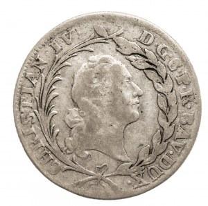 Niemcy, Palatynat Dwóch Mostów, Christian IV 1735-1775, 20 krajcarów 1763 M, Monachium.