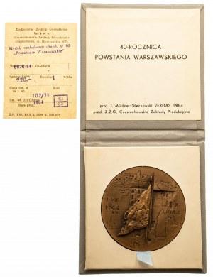 Medal 40 Rocznica Powstania Warszawskiego 1984