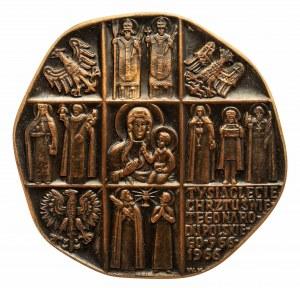 MEDAL 1000-LECIE CHRZTU ŚWIĘTEGO NARODU POLSKIEGO 966-1966 OJCIEC ŚWIĘTY PAWEŁ VI VERITAS