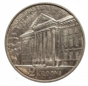 Estonia, Pierwsza Republika Estońska (1918–1940), 2 korony 1932, 300-lecie Uniwersytetu w Tartu