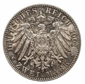 Niemcy, Cesarstwo Niemieckie 1871-1918, Prusy, Wilhelm II 1888-1918, 2 marki 1901 A, Berlin