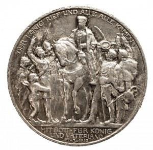 Niemcy, Cesarstwo Niemieckie 1871-1918, Prusy, Wilhelm II 1888-1918, 2 marki 1913, Berlin, 100-lecie Bitwy Narodów (Bitwy pod Lipskiem)