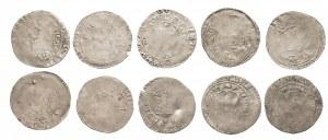 Czechy, Grosze praskie (10 szt.) XIV wiek, Wacławy , Karol IV