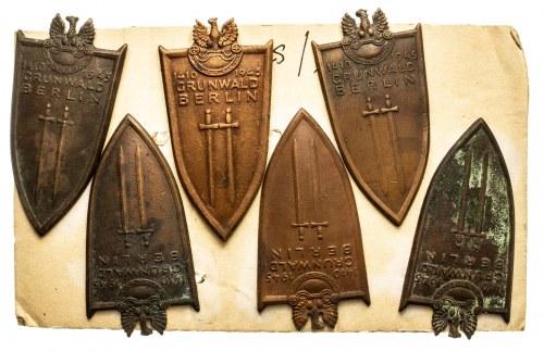 Odznaki GRUNWALD BERLIN 1410 -1945 - zestaw 6 szt.