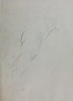 Wlastimil Hofman (1881-1970), Szkic aktu mężczyzny leżącego na brzuchu, ok. 1910
