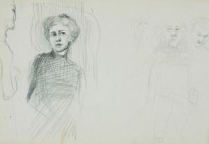 Włodzimierz Tetmajer (1861 - 1923), Szkice postaci (aktorzy teatralni?), ok. 1900