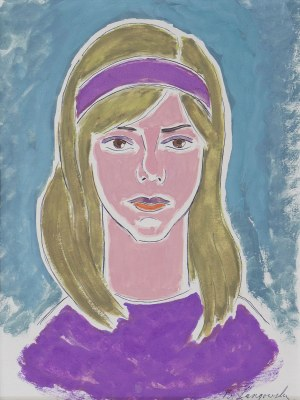 Barbara ŁANGOWSKA (ur. 1924), Portret dziewczyny – Marysia, 1971