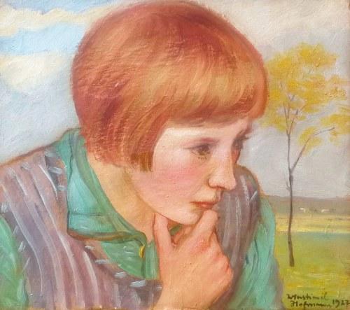 Wlastimil Hofman (1881-1970), Portret dziecka, 1927