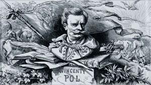 Juliusz Kossak (1824-1899), Wincenty Pol, winieta do Mohorta, 1860
