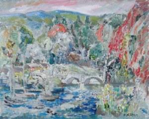 Henryk Krych (1905 - 1980), Pejzaż z mostem