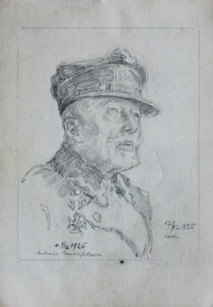 Józef Pieniążek (1888-1953), Portret ułana, Ludomira Benedyktowicza, 1925