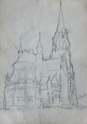 Józef Pieniążek (1888-1953), Widok na kościół