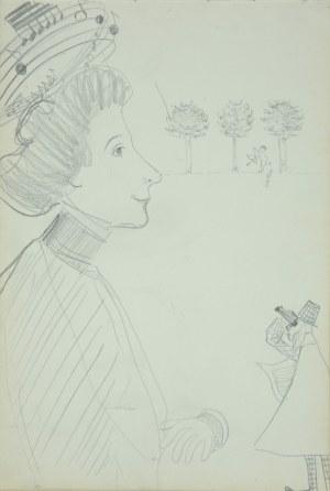Włodzimierz Tetmajer (1861 - 1923), Rysunek satyryczny - Łowy Amora, 1900