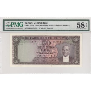 Turkey, 50 Lira, 1964, AUNC, p175a, 5. Emission