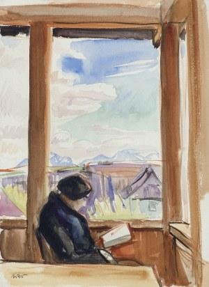 Weiss Wojciech, ZACZYTANA. PORTRET ŻONY ARTYSTY, 1910