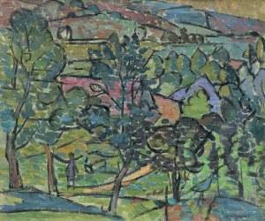 Marczyński Adam, PEJZAŻ Z ZABRZEŻY, 1951