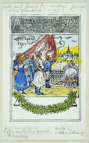 """Tadeusz Rybkowski (1848-1926), Projekt plakatu """"Międzynarodowa Wystawa Wynalazków w Poznaniu 1924"""", 1924"""