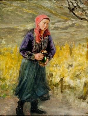 Teodor Axentowicz (1859-1936), Dziewczyna z dzbankiem