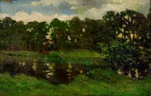 Henryk Piątkowski (1853-1932), Pejzaż letni, ok. 1923