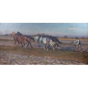 Jan Erazm Kotowski (1885 Opatkowiczki k. Pińczowa - 1960 Milanówek) - Orka, 1922 r.