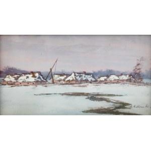 Andrzej Malinowski (1885 Czempin - 1932 Poznań) - Poleska zima