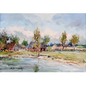 Eugeniusz Dzierzencki (1905 Warszawa - 1990 Sopot) - Pejzaż kaszubski