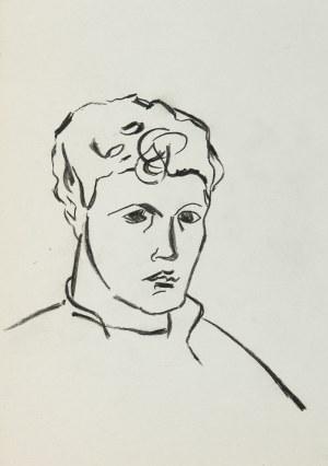 Roman Opałka (1931 Abbeville-Saint-Lucien - 2011 Rzym), Portret, lata 50. XX w.