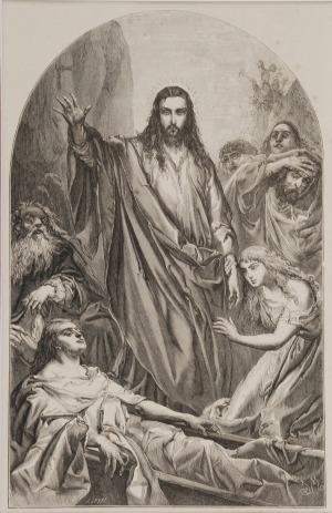 Jan MATEJKO (1838-1893)  - według, Wskrzeszenie Łazarza