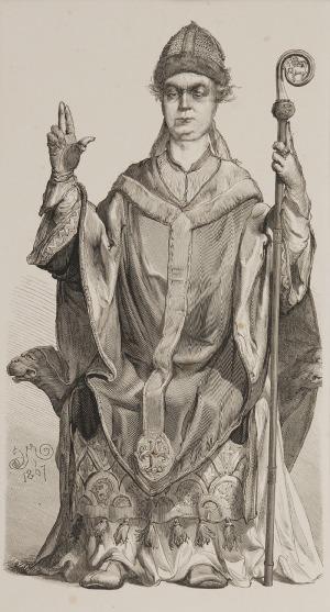 Jan MATEJKO (1838-1893)  - według, Fulko, arcybiskup Gnieźnieński