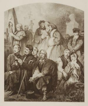 Artur GROTTGER (1837-1867)  - według, Lud w kościele
