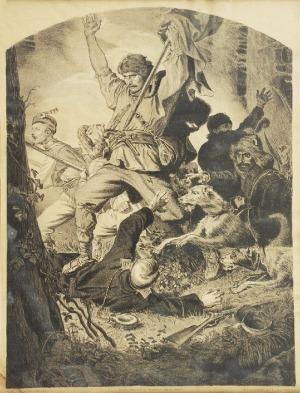 Artur GROTTGER (1837-1867)  - według, Bój z cyklu Lituania,