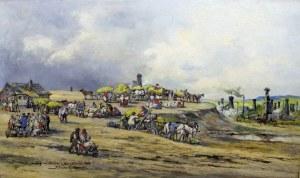 Tadeusz Rybkowski (ur. 1848, Kielce, zm. 1926, Lwów), Targ na
