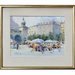 Henryk Sajdak (ur. 1905, Kraków, zm. 1995, Kraków), Widok na sukiennice