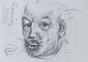 Franciszek Starowieyski (1930 - 2009), Szkic - Autoportret