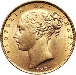 Wielka Brytania, Wiktoria, suweren 1872, Londyn, stempel nr 23