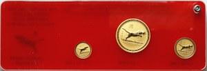 Australia, zestaw 3 złotych monet z 1998 roku, Rok Tygrysa