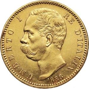Włochy, Umberto I, 100 lirów 1883 R, Rzym